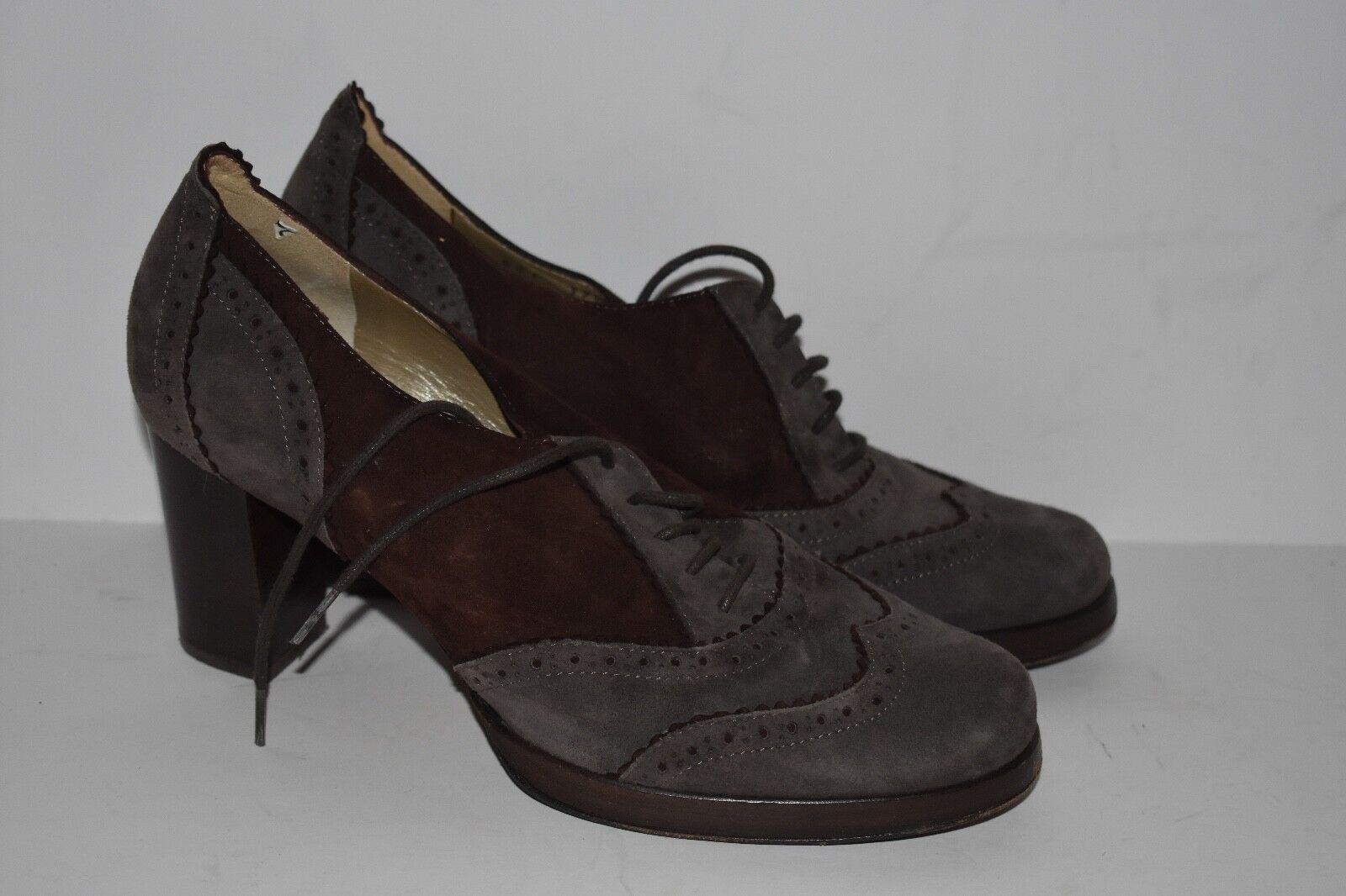 Taryn pink Women's Heel Booties Heels Lace Up shoes Pumps Size 37.5