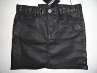 Gap Kids Girl's 7 10 12 14-16 Coated Waxed Mini Black Skirt