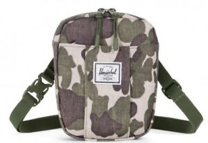 fcfb50e3ec94 NEW HERSCHEL SUPPLY COMPANY CRUZ FROG CAMO GREEN CROSSBODY SHOULDER ...