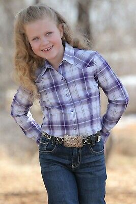 Cruel Girl Girls Coral Vintage Printed Snap Up Western Shirt CTW3220014