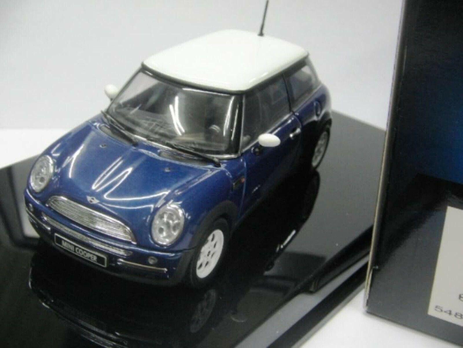 WOW EXTREMELY RARE Mini Cooper 1.6 bluee White 2001 1 43 Auto Art-Minichamps ΒΜW