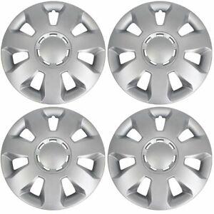 4x-ALBRECHT-Radkappen-Radblenden-Silber-Silver-ARES-14-Zoll-4-Stueck