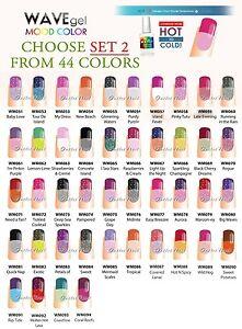 Wavegel Wave Gel Mood Color Set 2 Changing Gel Polish Collection Kit Lot Ebay
