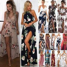 Womens Summer Boho Maxi Dress Evening Cocktail Party Beach Dresses Sundress Long
