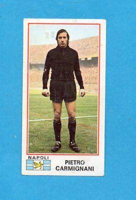 NUOVA//NEW FIGURINA CALCIATORI PANINI  1974//75 NAPOLI 360  CARMIGNANI