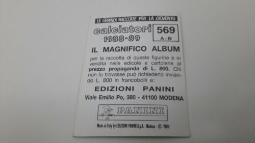 1988-89 Serie C1 SCUDETTO C 1 Calciatori Panini SCEGLI ** figurina con velina **
