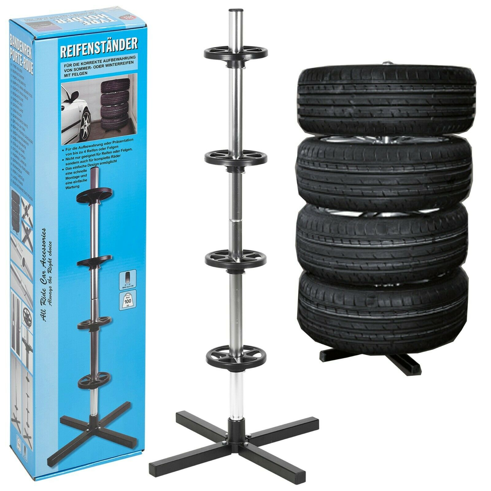 Tyre Tree Rack Stand For Summer Winter Wheels Storage Mobile Up To 100kg For Sale Ebay