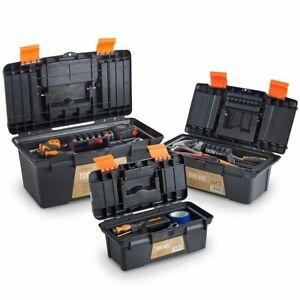 Heavy-Duty-plastique-Boite-a-Outils-Set-Kit-de-conservation-petite-moyenne-grande-bricolage