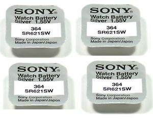 SONY-4-piles-Sony-364-SR621SW-1-55V