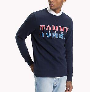 894582e40ee Tommy Hilfiger Jeans Men s Navy Blazer Logo Graphic Pullover ...