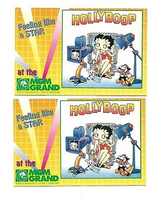 2 Hollyboop Postcards   Betty Boop at the MGM Grand   Las Vegas Nevada