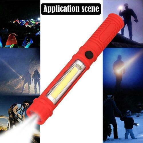 PVC LED Mini Arbeit Stift Licht Taschenlampe mit unteren Lampe Magnet Handh N2Y4