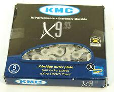 KMC X9 Silver/Black 9-Speed Chain 6.6mm