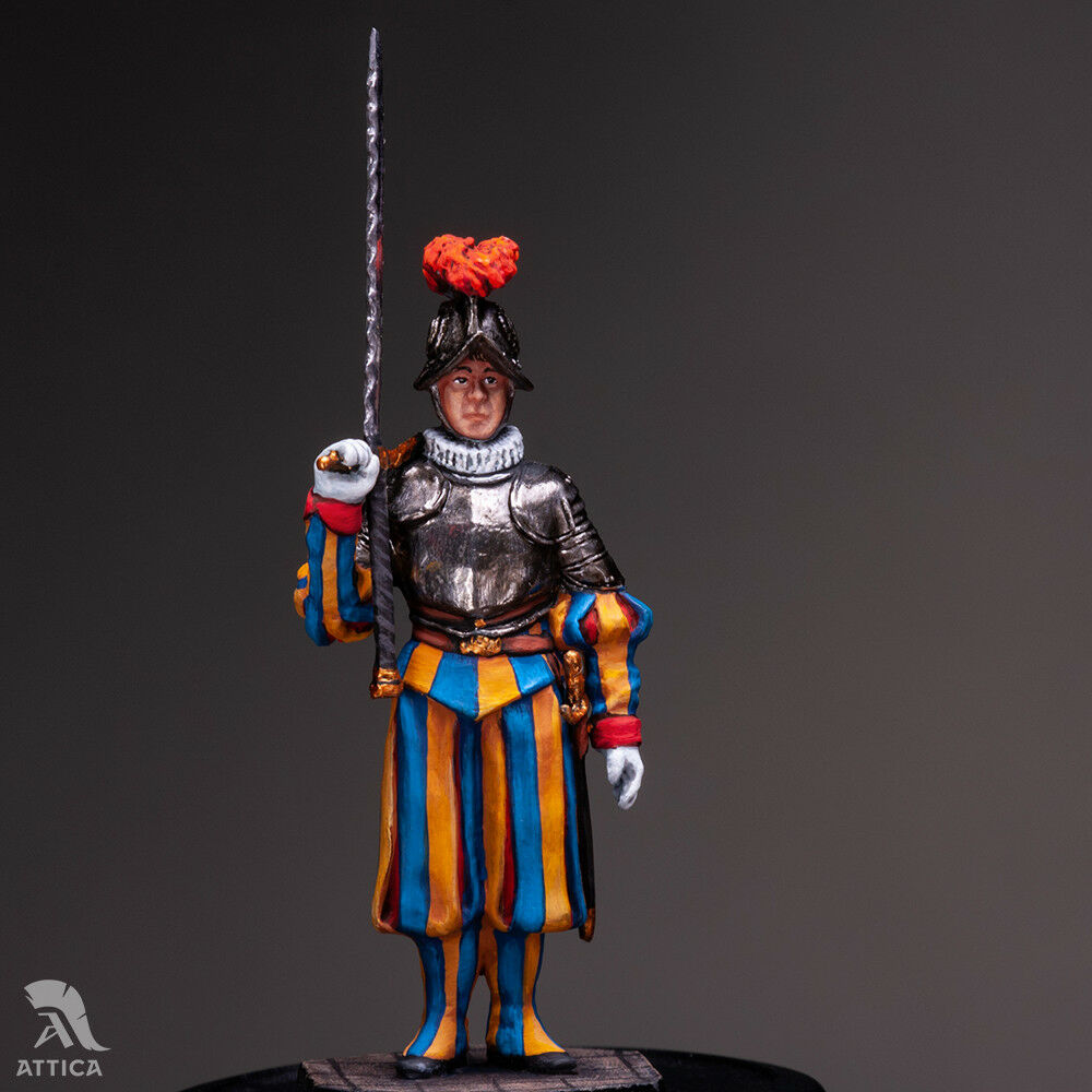 Pontifical Swiss Guard  corpoguard of Pope №3 54mm Tin giocattolo Soldier   Collectible  outlet