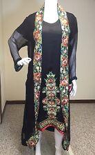 Pakistani Indian Designer Wedding Black Salwar Kameez Bridal M, L