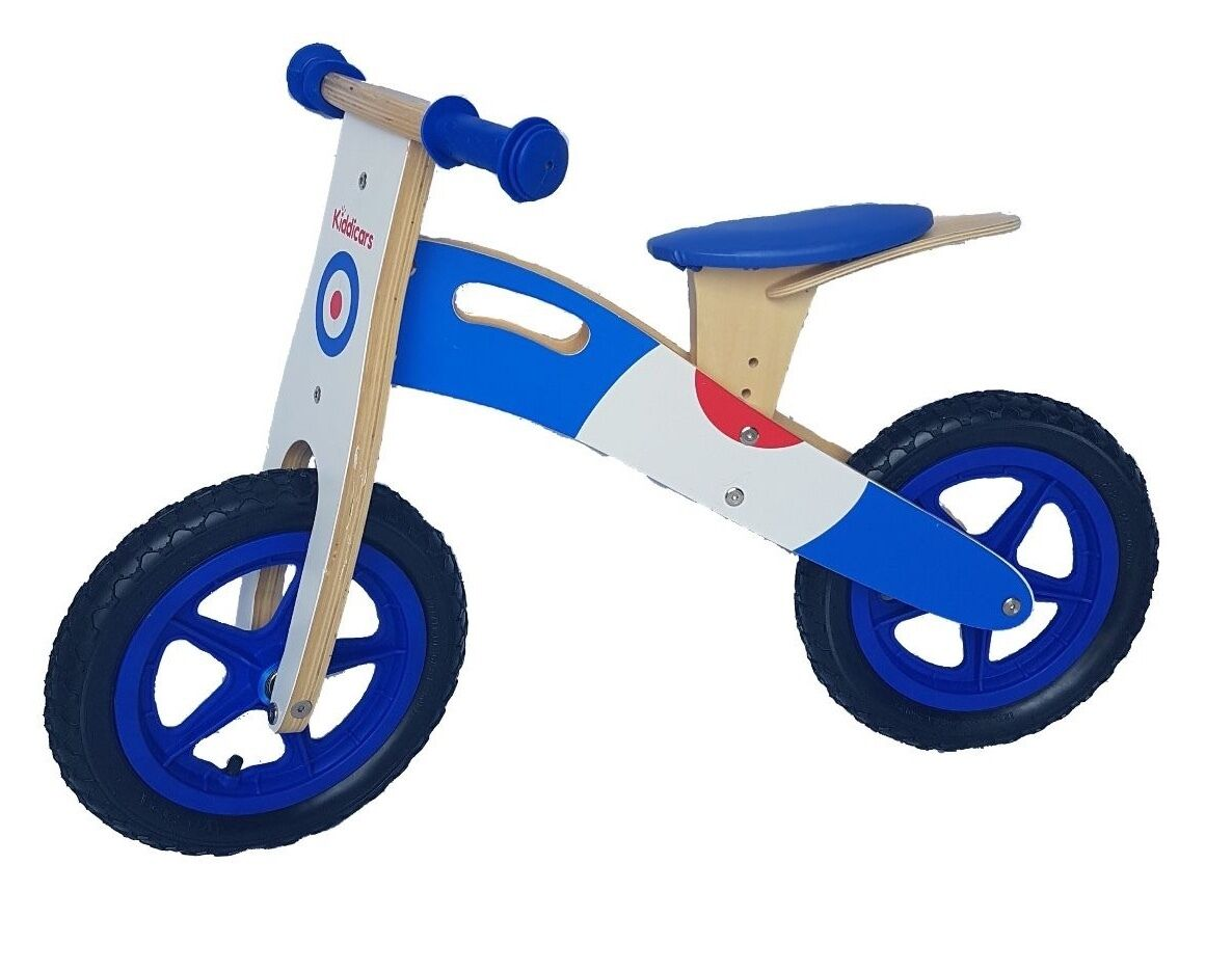 Kids wooden balance bike running walking scooter available in 2 designs