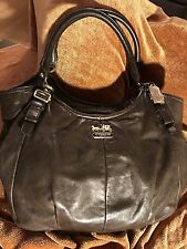 Coach Madison Abigail Purse Bag in Dark Brown Leather