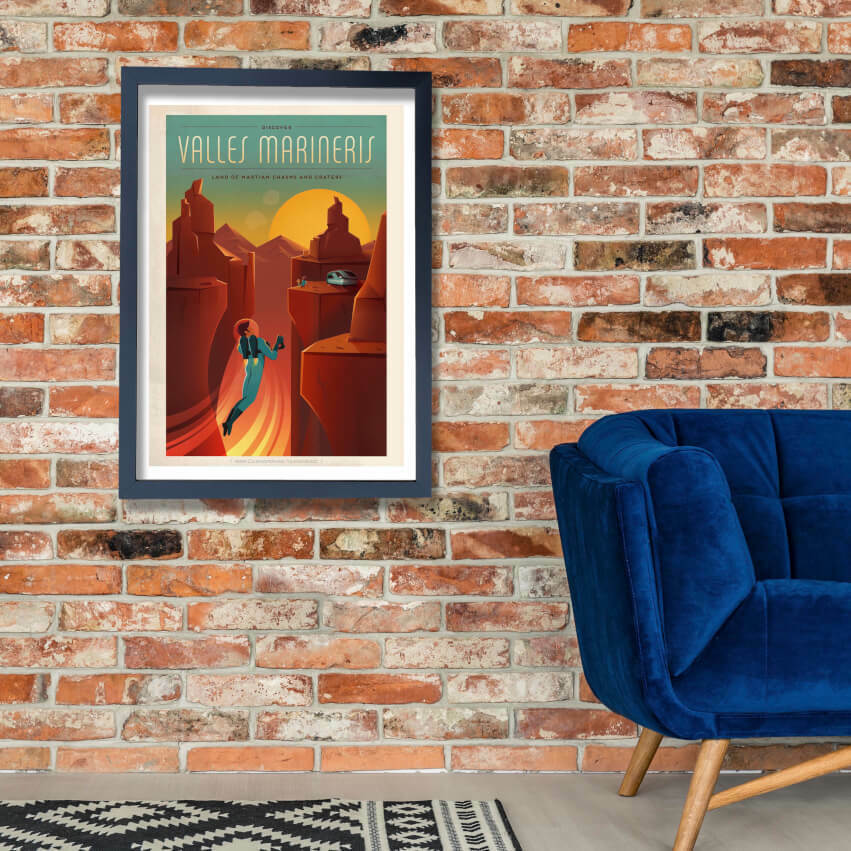 SpaceX Mars - Valles Marineris Space Tourism Wall Art Poster Print