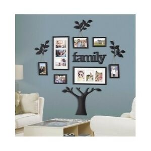 Family tree picture frame set for walls photo collage for Home interiors and gifts framed art