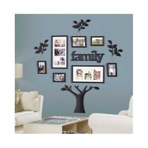 family tree picture frame set for walls photo collage frames large home mom gift 784228220319 ebay. Black Bedroom Furniture Sets. Home Design Ideas