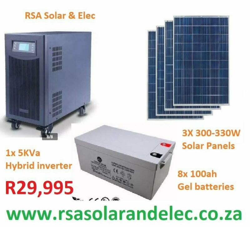 5kva solar system with 100amp solar mppt charger