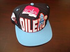 HOUSTON OILERS LOGO 7 BIG LOGO    SCRIPT NEW VINTAGE 90'S HAT CAP  SNAPBACK