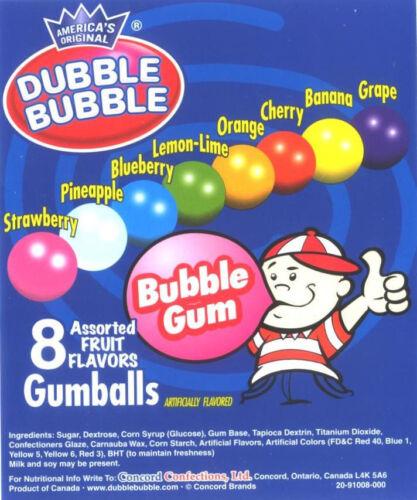 120 DUBBLE BUBBLE 1 GUMBALLS bulk* vending candy gum balls double Concord toots