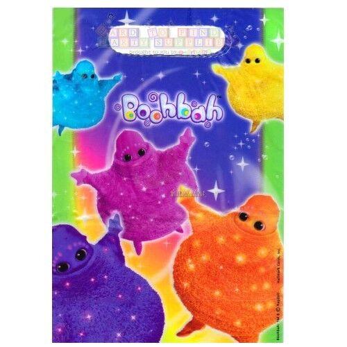 ~ Birthday Party Supplies Treat Sacks Goody Plastic Blue 8 BOOHBAH FAVOR BAGS