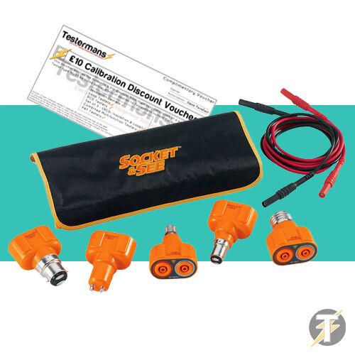Socket & See LTKIT10 Lampe Test Kit Adaptateur / Lumière de - Fluke , Megger
