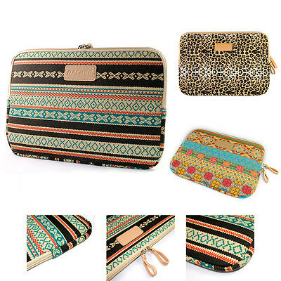 "Laptop Bag Canvas Sleeve Pouch Case for Macbook iPad Dell HP Lenovo 10""11""13""15"""