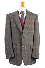 Harris Tweed Windowpane Wedding Country HackingBlazer Jacket Size XL-HT1827