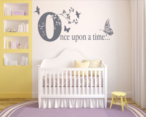 wall sticker Once Upon A Time birds fairytale butterflies