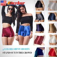 Shiny Sexy Disco Club High Waisted Apparel Ladies Womens Mini Shorts Hot Pants