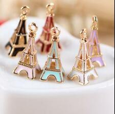 12pcs color Eiffel Tower Metal Charms pendants DIY Jewellery Making crafts 24mm