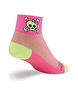 "Classic Women 2/"" Skull Pop  Cycling//Running SockGuy Socks"