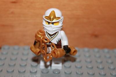 Lego® Figur weisser Ninjago mit Zubehör unbespielt Minifig new