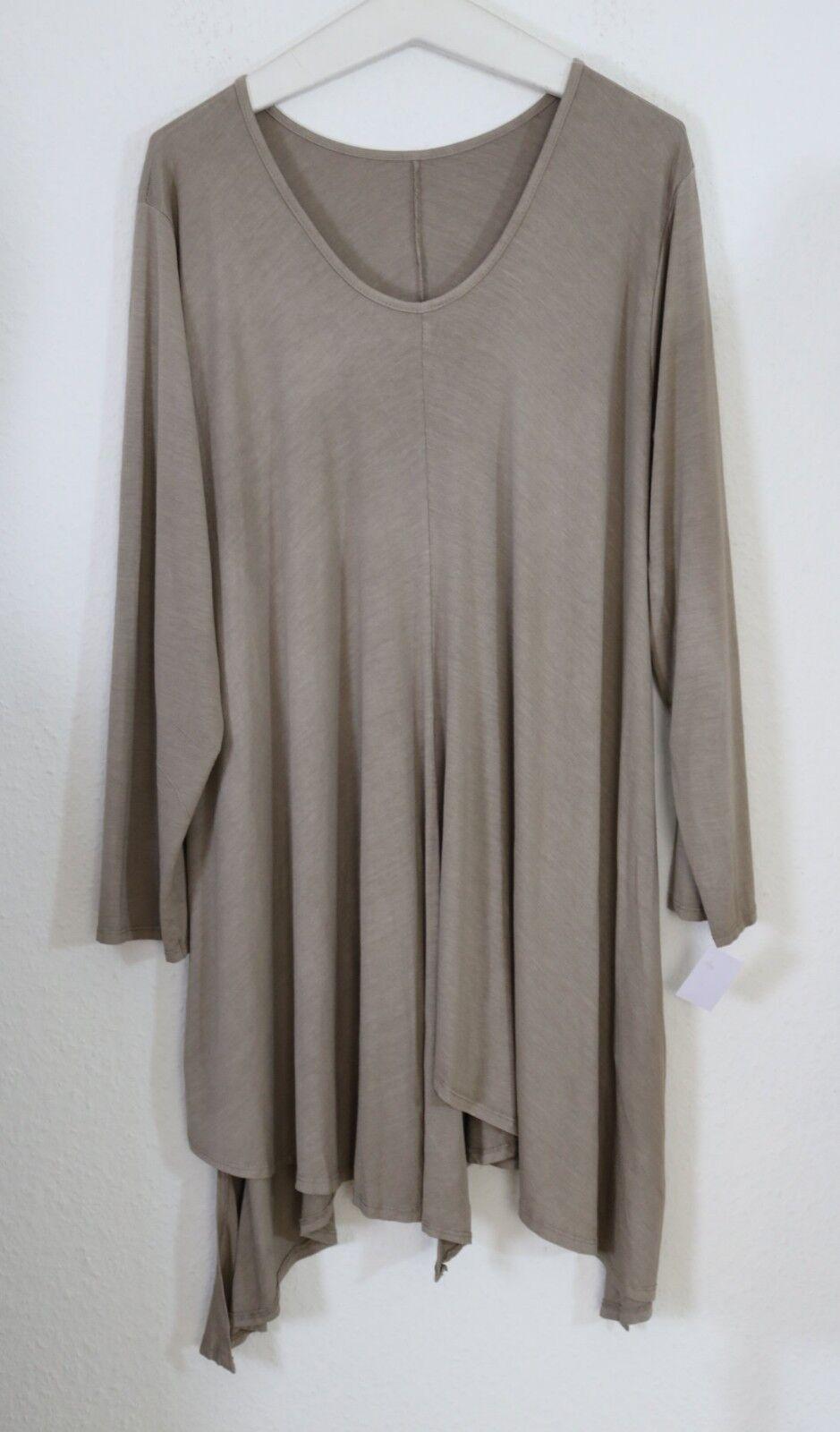 Moonshine Fashion LAGENLOOK Zipfel Long Tunika Kleid EG 48 48 48 50 52  XL-XXL NEU | Up-to-date-styling  | Düsseldorf Eröffnung  | Primäre Qualität  681dd7