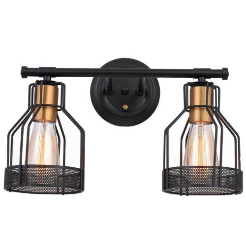 2-Light Bathroom Vanity Light Industrial Wall Sconce Bathroom Lighting Fixture U