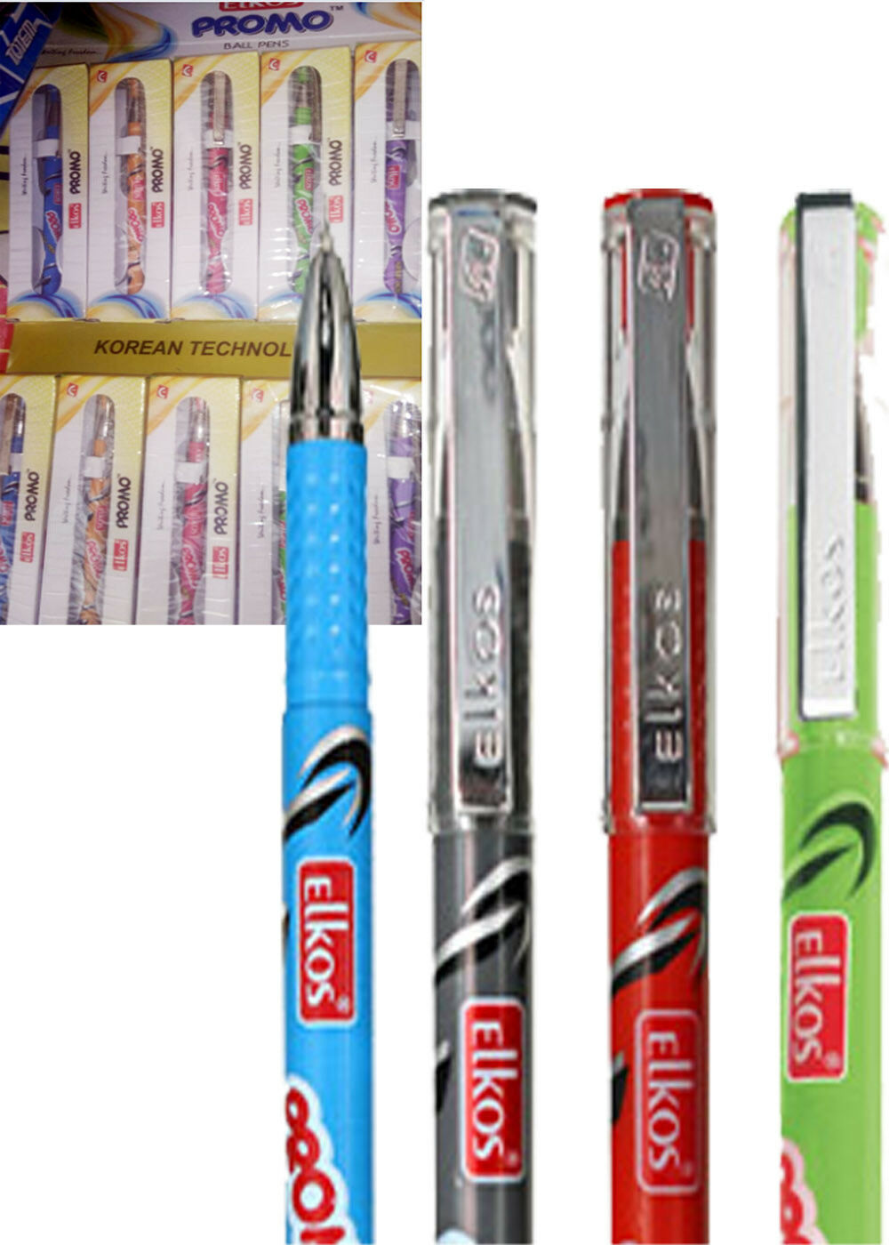 Elkos promo ball pen bluee 50 Pcs Free Shipping wholsale price
