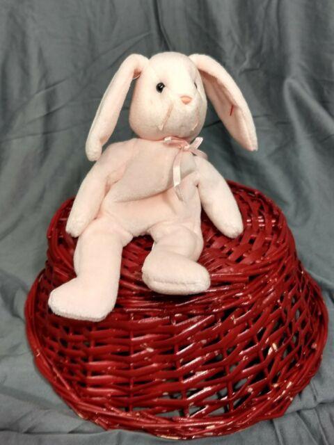 TY Beanie Babies Hoppity the Pink Bunny Rabbit Hare Plush 1996