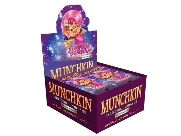 Moda furioso Booster Box 24 Pack Juego de Tarjetas Coleccionables Munchkin juego de tarjetas coleccionables de SJG4506-D