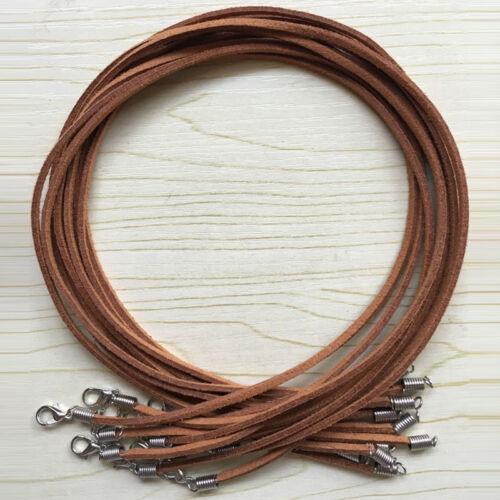 5//10Pcs Multi Color en Daim Cuir String Cord Jewelry Finding Collier 47 cm À faire soi-même