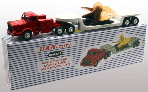 DAN TOYS  Mighty Antar avec Semi-Remorque Basse Porte Hélice Rouge Gris