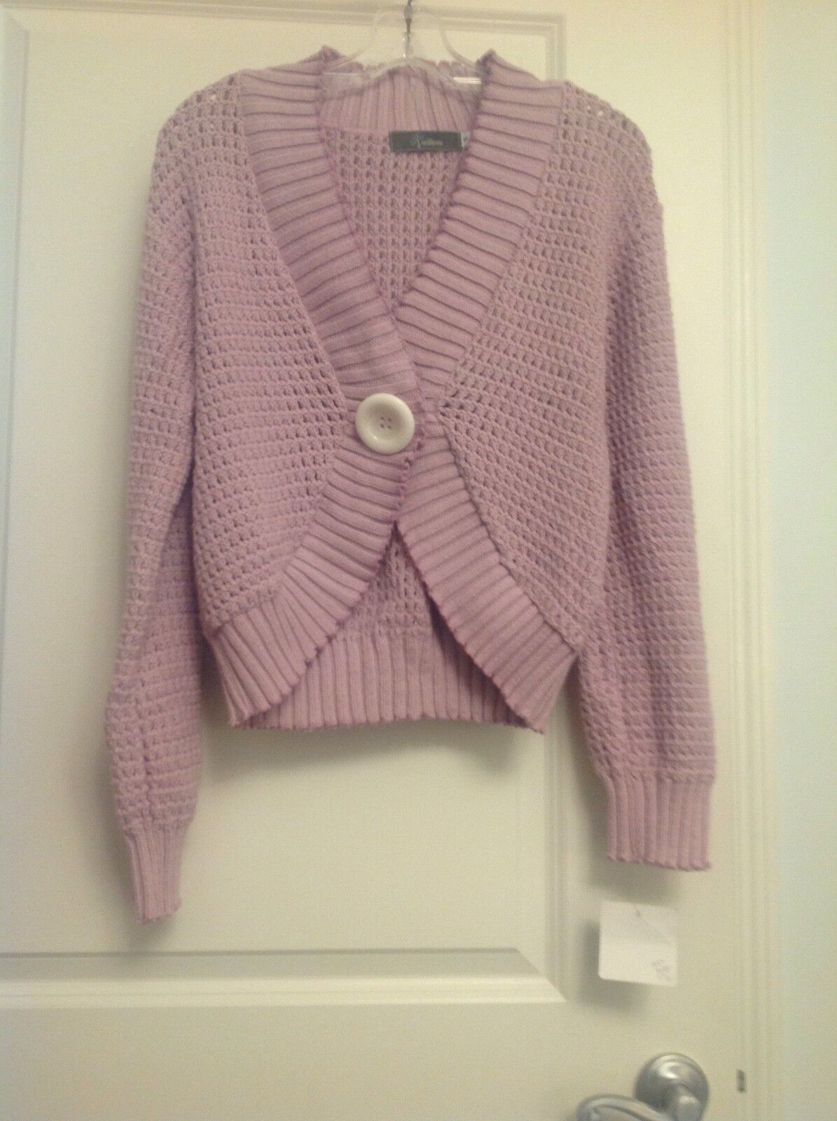Willow NWT  Sz S M Dusty Pink (mauve) one button slouchy cardigan