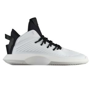 869be6167793 Adidas Crazy 1 ADV Mens AQ0320 White Black Leather Basketball Shoes ...
