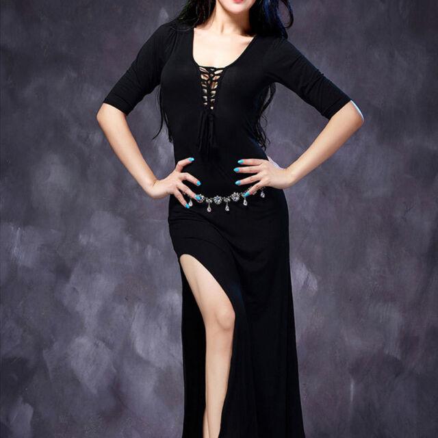 C831 Bauchtanz Kostüm Kleid mit Schnüren  Belly Dance Übungskostüm