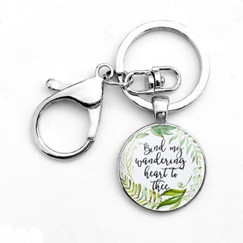 Bible Verse Keychains Plated Silver Charming Vintage Gift For Women Key Chains
