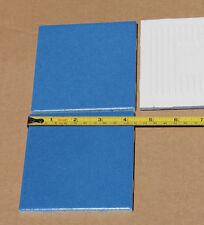 Four (4) Vintage Blue Ceramic Tiles 4 1/4 X 41/4 NOS never installed Bimini Blue