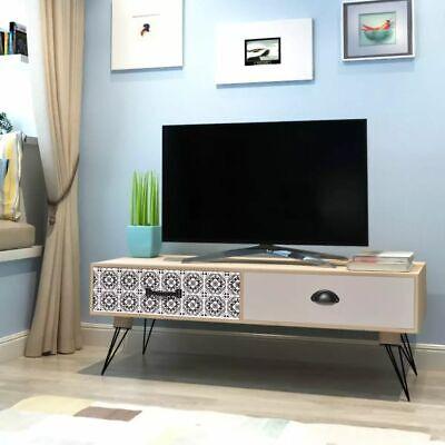 vidaXL Mesita auxiliar para TV Material MDF Dimension 100x40x35 cm Color Marrón