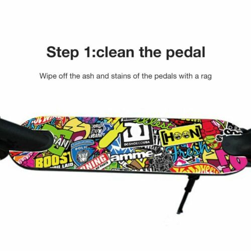 DIY Scooter Pedal Stickers Decal For Xiaomi M365 Electric Waterproof Footboard